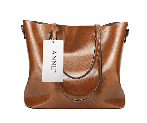 Anne, Borsa tote donna nero Red Wine Khaki