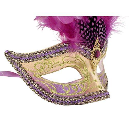 Lila und Gold Sisi gefiederten venezianischen Masquerade ()