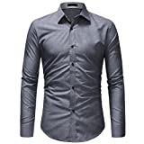 Camicia di Jeans Uomo KOLY Camicia di Moda Casual Autunno Camicetta di  Cotone Denim Slim Fit dc549e81f11d