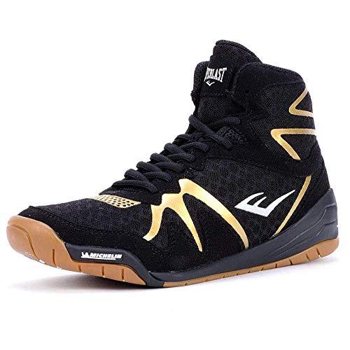 Everlast PIVT Low Top Boxing Schuhe, Farbe: Black/Gold, Größe: 40