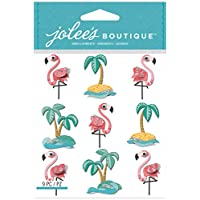 Jolees Boutique Dimensional Stickers, Flamingos and Palm Tree Repeats