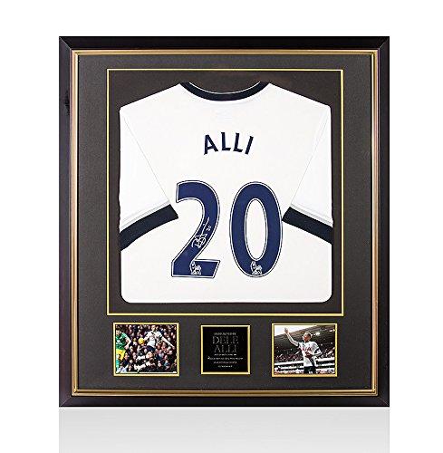 Framed-Dele-Alli-Signed-Autograph-Tottenham-Hotspur-Shirt-20152016-Home-Number-20-Premium-Framed