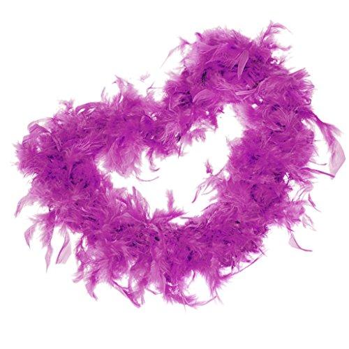 Sharplace 2m Federboa einfarbig aus verschiedenen Farben Federstola Federschal Kostüm Karneval - (Farbe Lila Kostüme)