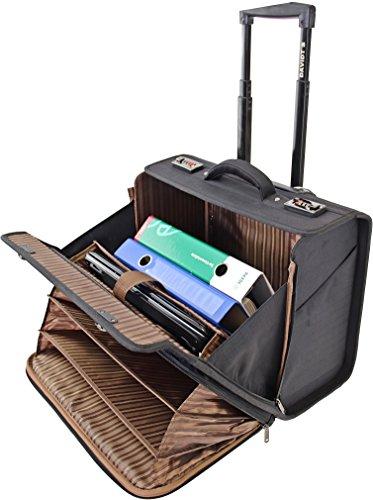 TROLLEY / Business Trolley Laptop Tasche Pilotenkoffer Boardcase Luxus Aktentrolley Herren Akten Tasche Mappe Business-Tasche