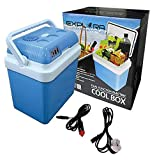Explora® 24L Electric Dual-Function 2-in-1 Cool Box With12V DC & 240V AC Adaptors