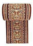 Läufer Teppich Flur in Beige Braun - Orientalisch Muster - Kurzflor Teppichlaufer