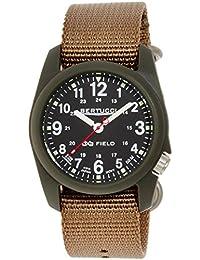 Bertucci Hombre 11027analógica pantalla Beige reloj de cuarzo analógico