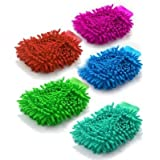 Mayatra's Pack of 5 Microfiber Double Sided Dusting Cleaning Glove for Home Office Kitchen Hotel