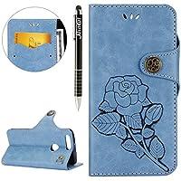Huawei Honor 8 Hülle,Huawei Honor 8 Ledertasche Handyhülle Brieftasche im BookStyle,SainCat Schön Retro 3D Eine... preisvergleich bei billige-tabletten.eu