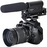Excelvan- Microphone stéréo photographie interview pour Canon 5D Mark II, 7D, 550D, 600D Nikon Pentax Olympus Panasonic Sony DSLR vidéo caméra DV