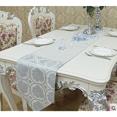 Bandiere ricamate tridimensionale del tavolino da salotto indipendente/ tavolo da pranzo corridore/ tavolo/ bandiera-A 30x200cm(12x79inch)
