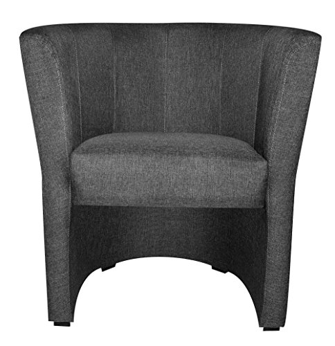 TOP Sessel Clubsessel Loungesessel Cocktailsessel Sawanna Grau W042 34