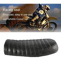 Impermeable cocodrilo de grano de cuero Universal Cafe Racer asiento acolchado con esponja cómoda para Honda serie CG Motocicleta