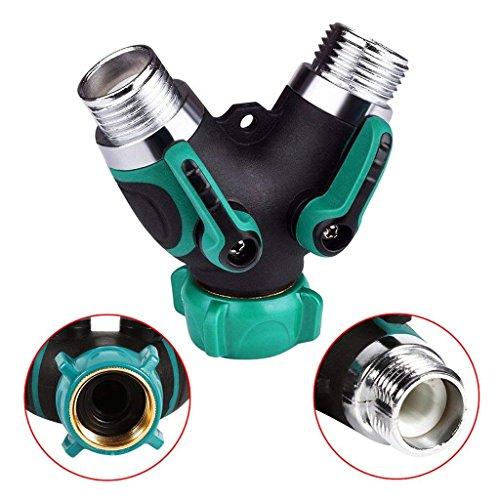 Garten Wasserschlauch Teiler, Metall 2 Way Y Schlauch Wasseranschluss, Y Ventil Schlauchanschluss Outdoor-Dienstprogramm