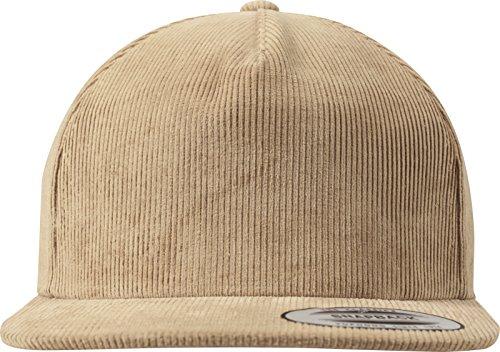 Flexfit Premium Corduroy Snapback Unisex Kappe für Damen und Herren, One Size Cap mit Plastikverschluss