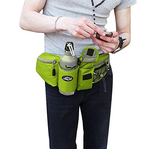 KUKOME (TM) - Riñonera para ciclismo, jogging, cámping, senderismo, Unisex, verde