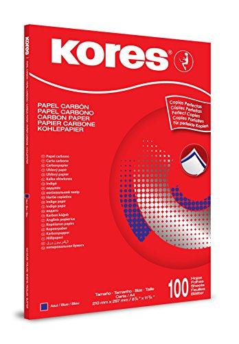 Kores Durchschreibepapier 1200, Din A4, 100 Blatt, blau