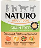 Naturo Wet Dog Food Adult Grain Free Salmon and Potato 400 g, Pack of 10