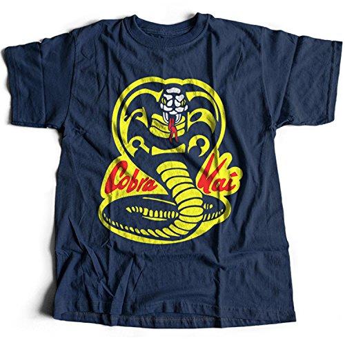 51Fpmsnfg7L - Camiseta azul logo Cobra Kai
