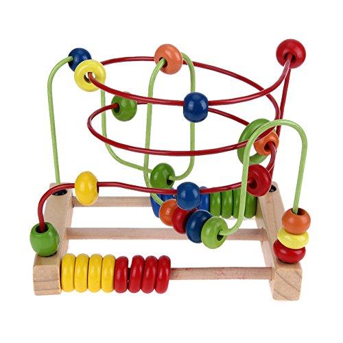 Broadroot Zählender Kreis-Perlen-Abakus-Draht-Labyrinth-Achterbahn-hölzernes Baby pädagogisches - Holz-puzzle Kreis