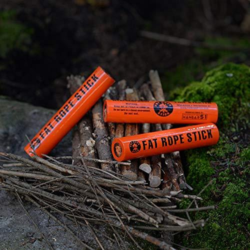Fat Corde bâton 3 x ultime résistant aux intempéries Fire Starter Petit
