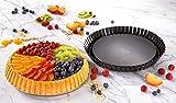 Dr. Oetker Obstkuchenform Ø 28 cm, Backform für Obsttorten, runde Kuchenform aus Stahl mit Antihaftbeschichtung (Farbe: schwarz), Menge: 1 Stück