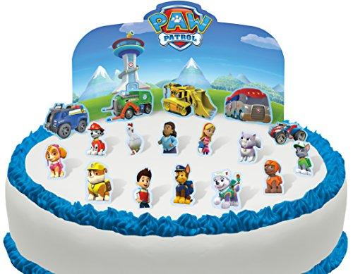 TENE UND ESSBARE Paw Patrol Szene Kuchen topper (Tortenaufleger) (18 Geburtstag Cupcake Dekorationen)