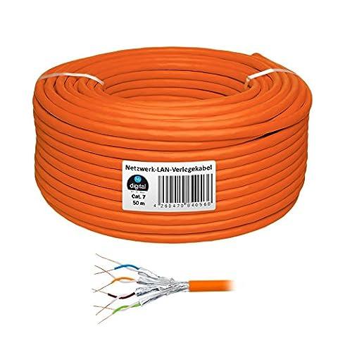 HB Digital Câble de réseau LAN câble de pose Cabel Cat 7Cuivre AWG23/1