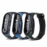 T-BLUER Für Xiaomi Mi Band 3 Bands, Bunte Ersatz Armband Armband für Xiaomi Mi Band 3 Band Smart Armband Zubehör (kein Tracker)