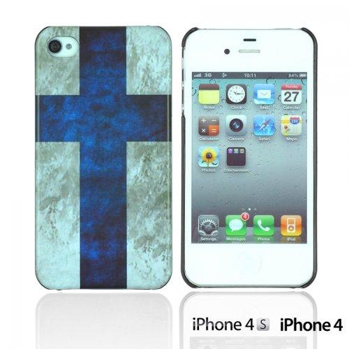 OnlineBestDigital - Vintage National Flag Hard Back Case / Housse pour Apple iPhone 4S / Apple iPhone 4 - Italie Finlande