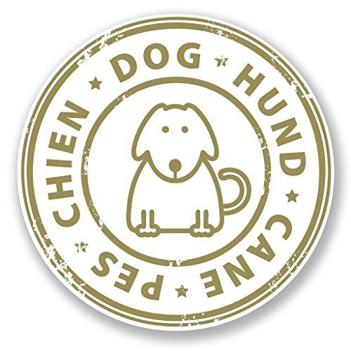 Preisvergleich Produktbild 2x Hund Hund Cane PES Chien Vinyl Aufkleber Aufkleber Laptop Reise Gepäck Auto Ipad Schild Fun # 6793 - 15cm/150mm Wide