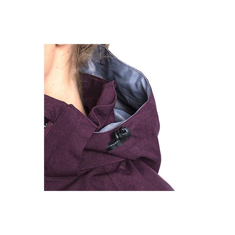 Trespass Women's Gita II Waterproof Rain Outdoor Jacket with Removable Hood
