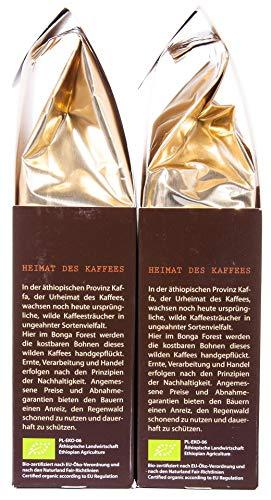 Original Food Kaffa Wildkaffee Espresso gemahlen 2er-Pack (2x 250g) bio - 3