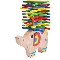 natural escaneado elefante montessori apilables para aprendizaje juguete Madera Habilidad con varillas multicolor a partir de 4años para la motricidad frühe Desarrollo de su hijo en Multicolor