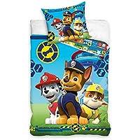 Ropa de cama de la Patrulla Canina, 140x 200, 100 % algodón, para habitaciones infantiles, 135x 200