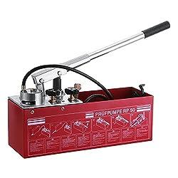 BuoQua Hydraulic Manual Pressure Test Pump 726 PSI 3 Gallon Tank 45ML 1/2