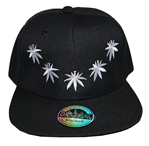 NEW STYLE Casquette Snapback - canabis lune, Umfang: ca. 52-60 cm