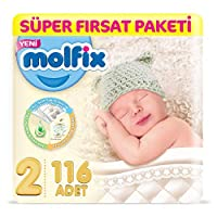 Molfix 3D Bebek Bezi, 2 Beden
