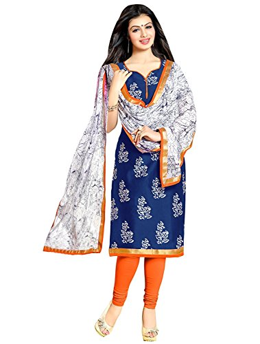 Shiroya Brothers Women\'s Ethnic Wear Pure Cotton Unstitched Regular Wear Salwar Suits Dress Material (Dress Material_1872_Multi Color_Free Size)