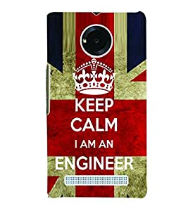 Fuson 3D Printed Engineer Wallpaper Designer Back Case Cover for Yu Yuphoria - D678