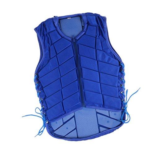 Veste d'Equitation Gilet Adjustable à Protection du Corps pour Adulte/Enfant - Bleu Ciel - M, Bleu ciel