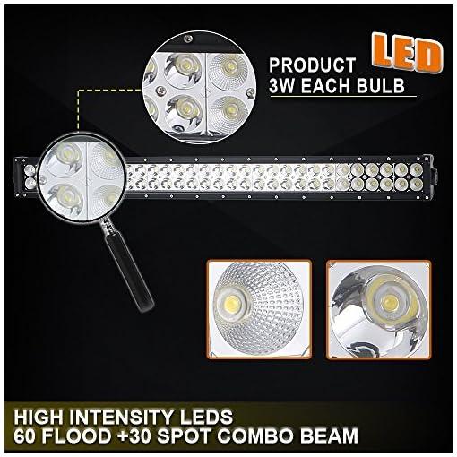 UNI FILTER QW 52″ 240W 40 42″ LED Barra Fuoristrada Light bar + 4″ luce lavoro +cablaggio