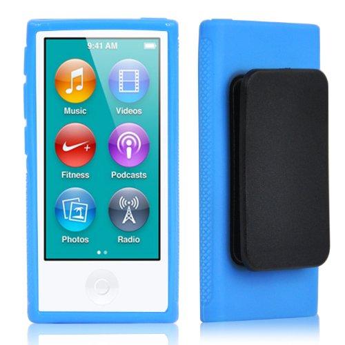 TRIXES iPod TPU Gel Case für Apple iPod Nano 7. Generation in Blau (Ipod Nano 7. Fällen)