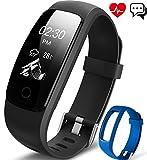 Fitness Armband, Aneken Fitness tracker mit Herzfrequenz, Schrittzähler Aktivitätstracker Pulsmesser Bluetooth Smart A