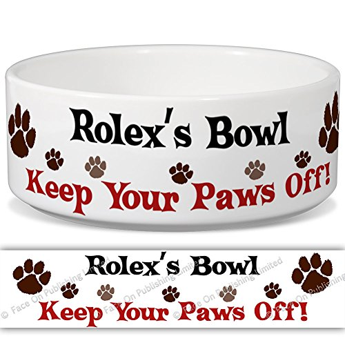 rolexs-bowl-keep-your-paws-off-personalised-name-ceramic-pet-food-bowl-155mm-x-60mm-small