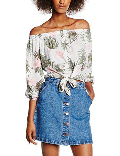 New-Look-Heidi-Tropical-Button-Through-Camiseta-sin-Mangas-para-Mujer