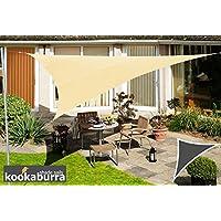 Tenda a Vela Kookaburra per Feste resistente all'acqua - Triangolo Rettangolare 6,0m x 4,2m – Sabbia
