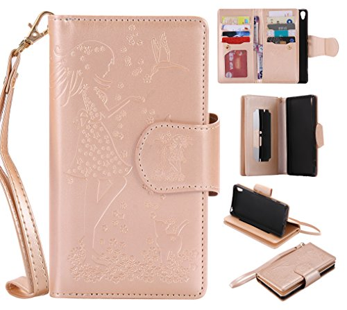 sony-xperia-xa-case-leather-cash-and-9-card-slots-cozy-hut-elegant-woman-and-cat-patterned-embossing