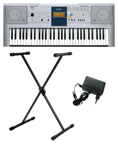Yamaha PSR E323 Portable Keyboard, inkl. Netzteil und Ständer im Set