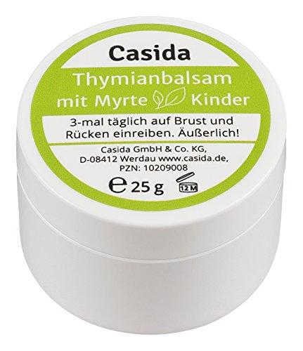 Thymianbalsam mit Myrte für Kinder 25 g - Pflege bei Husten und Erkältung für Kinder und Babys - Sanfte Baby-balsam
